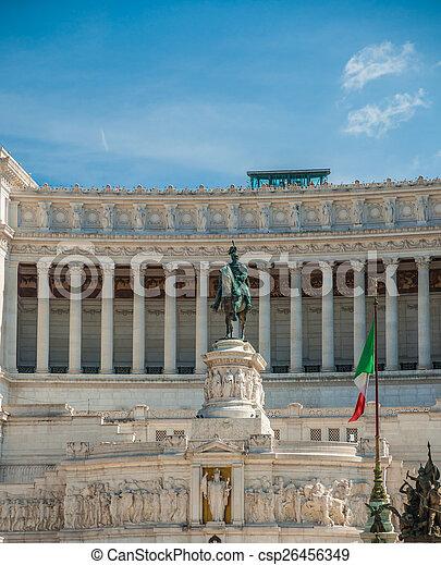 memorial Vittoriano, Rome - csp26456349