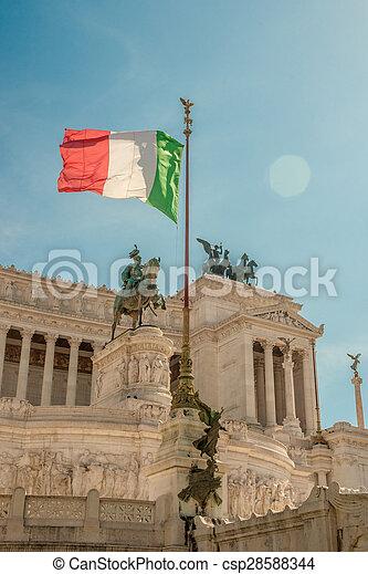 memorial Vittoriano, Rome - csp28588344