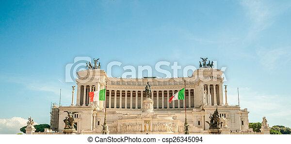 memorial Vittoriano, Rome - csp26345094
