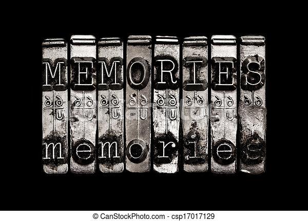 Memories or time concept - csp17017129