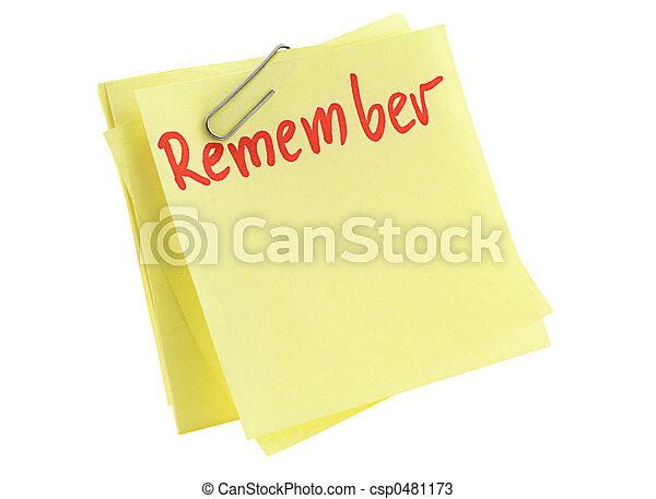 memorize paper sheet - csp0481173