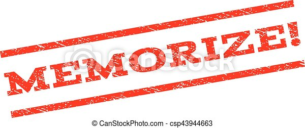 Memorize! Watermark Stamp - csp43944663