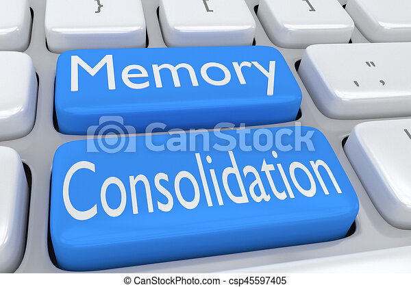 Memory Consolidation concept - csp45597405