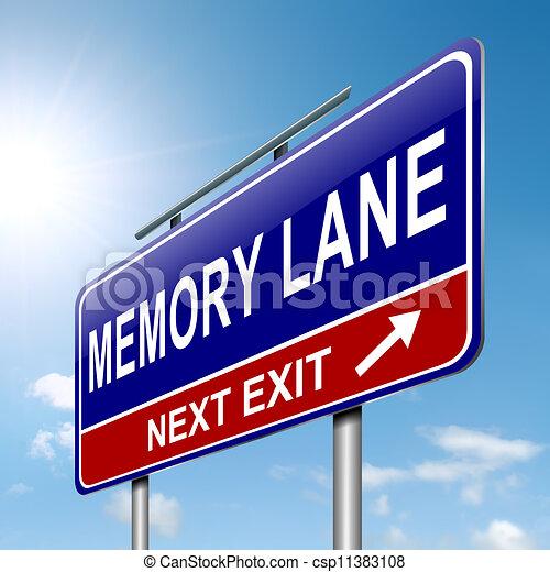 Memory lane concept. - csp11383108