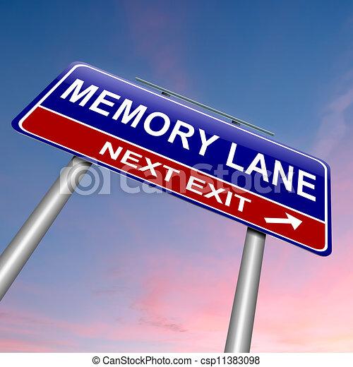 Memory lane concept. - csp11383098