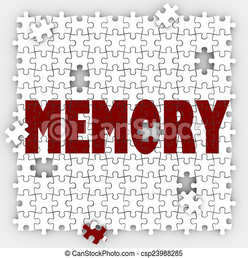 Memory Word Losing Ability Remember Past Events Memorize Mind Re - csp23988285