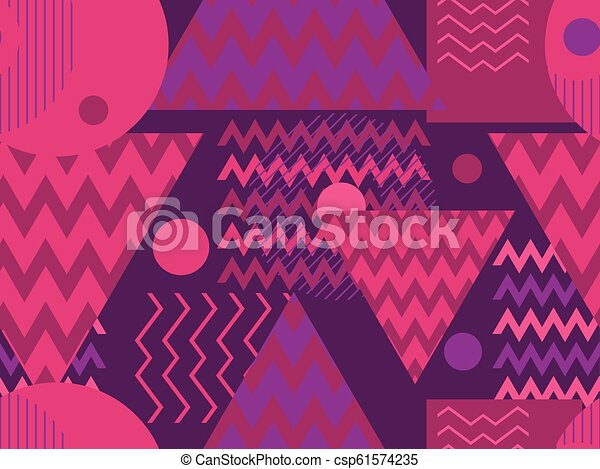 Memphis seamless pattern  Geometric elements memphis in the style of 80s   Retro background  Vector illustration