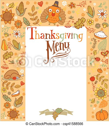 Tarjeta de Acción de Gracias - csp41588566