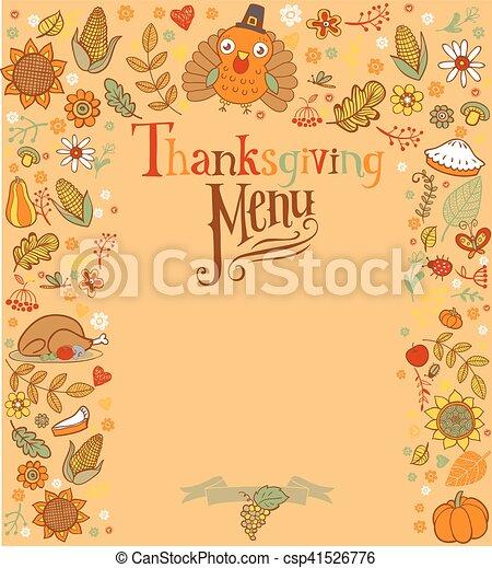 Tarjeta de Acción de Gracias - csp41526776