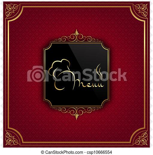 La cubierta del menú del restaurante - csp10666554