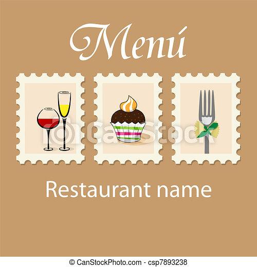 Diseño de menú - csp7893238