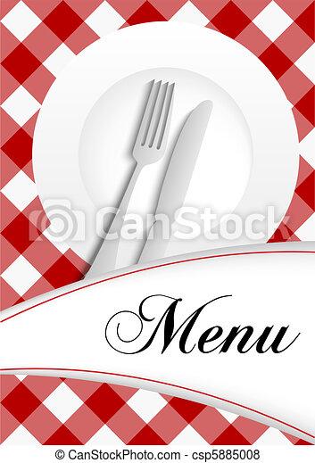 Diseño de tarjetas de menú - csp5885008
