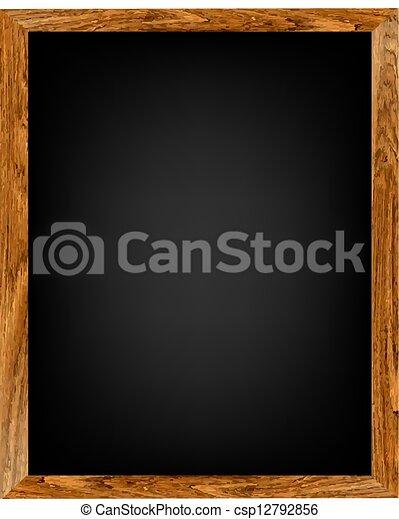 Tabla de madera del menú del restaurante - csp12792856