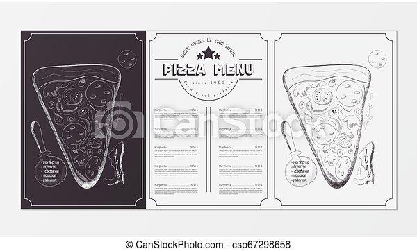 Menú de pizza - csp67298658