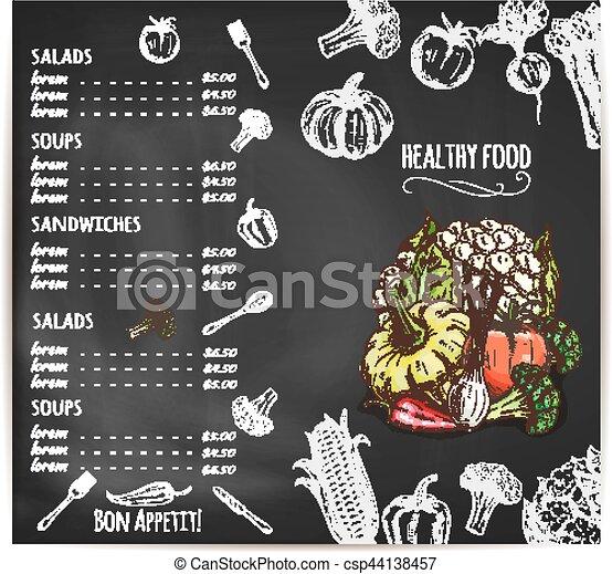 Menu Vegetales Pizarra Restaurante Calabaza Calabaza