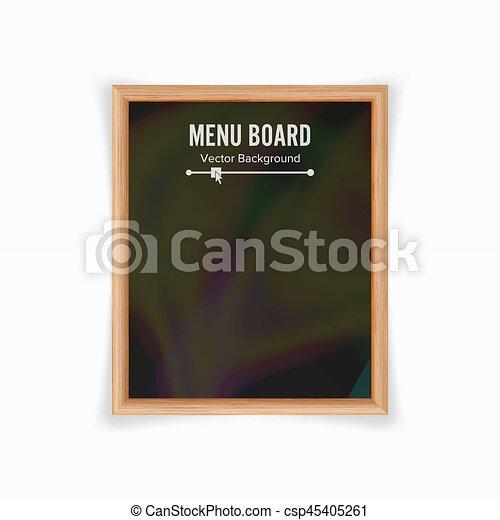 Schultafel mit kreide clipart  Clipart Vektorbild von menükarte, abbildung, schultafel, vector ...
