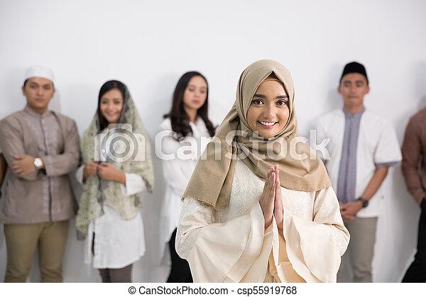 Asian muslim men