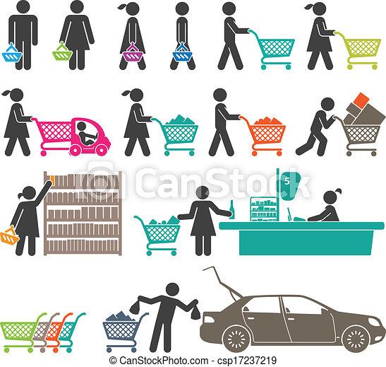 MEN AND WOMEN GO SHOPPING