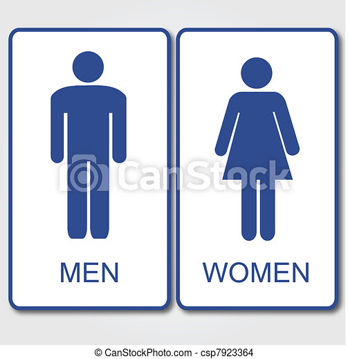 Men and Women Sign - csp7923364