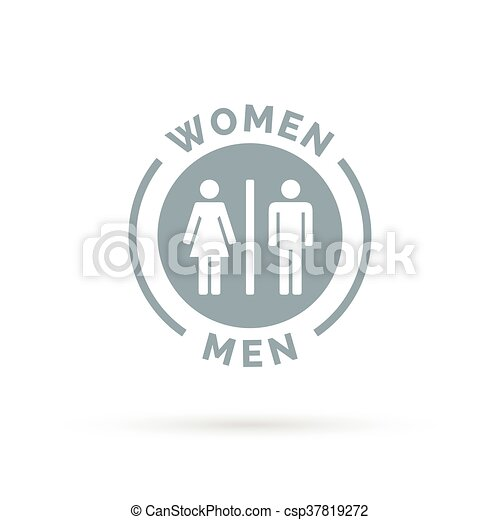 Men And Women Toilet Icon Male Female Restroom Sign Man Woman Bathroom Symbol Vector Illustration