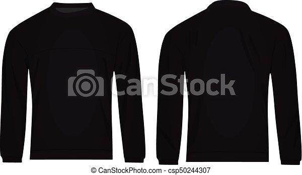 Men black sweater. vector illustration