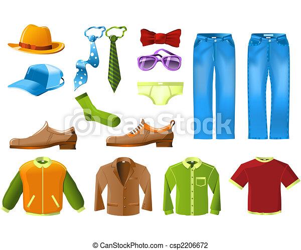 Men clothes icon set - csp2206672
