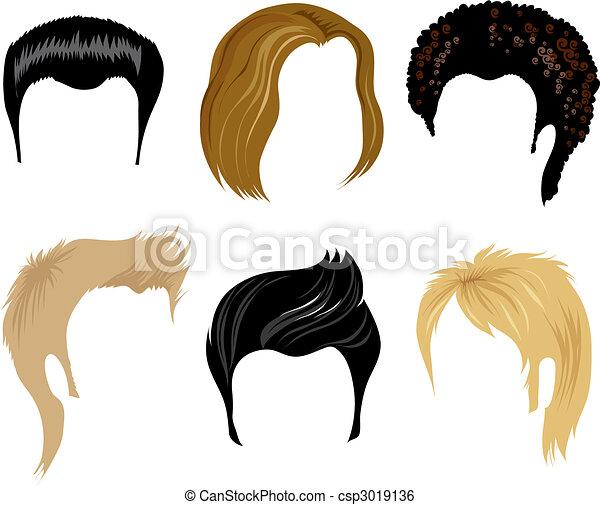 men hair styling - csp3019136