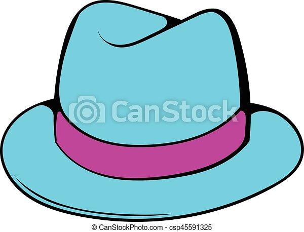 Line Art Illustration Style : Men hat icon cartoon. in cartoon style isolated