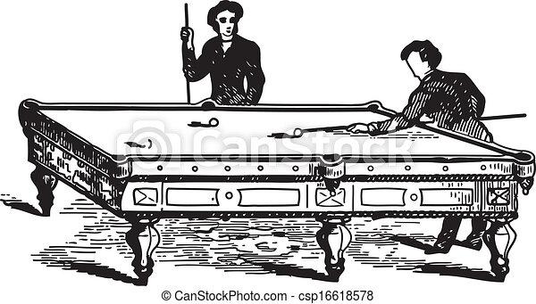 Men Playing Pool Game