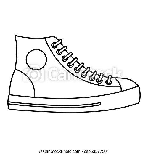 9a3fcb0196 Men shoe icon thin line. Men shoe icon. thin line illustration of ...