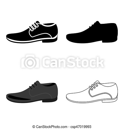 Men Shoes icon of vector illustration for web and mobile - csp47019993