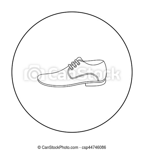 Men Shoes icon of vector illustration for web and mobile - csp44746086