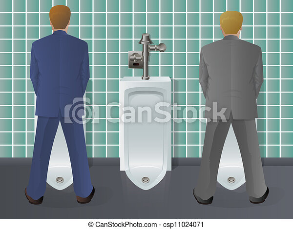Men Using Urinal - csp11024071