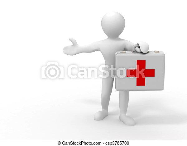 Men with medical case - csp3785700