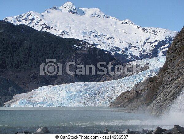 Mendenhall Glacier at Juneau Alaska - csp14336587