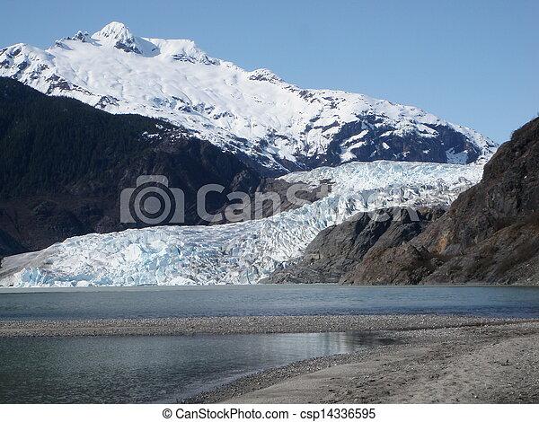 Mendenhall Glacier at Juneau Alaska - csp14336595