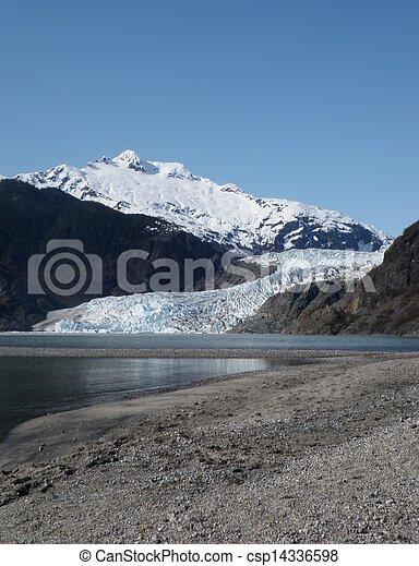 Mendenhall Glacier at Juneau Alaska - csp14336598