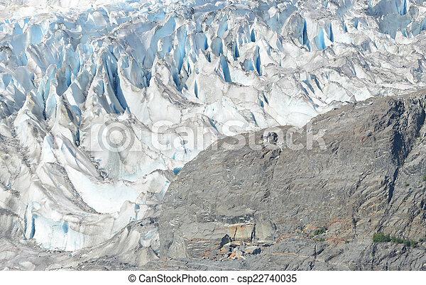 Mendenhall Glacier, Juneau Alaska - csp22740035