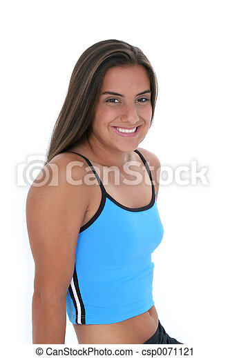 menina adolescente, desporto - csp0071121