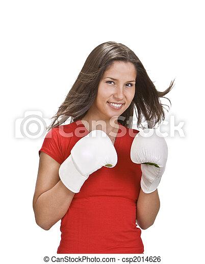 menina, boxe - csp2014626