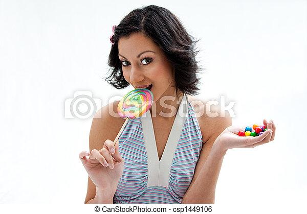 menina, doce - csp1449106