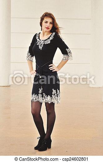 menina, moda, jovem - csp24602801