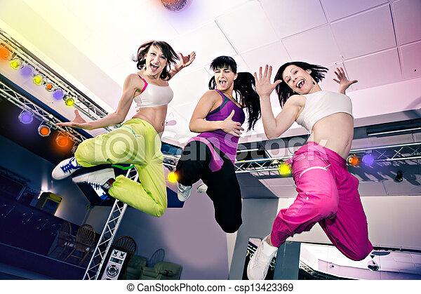 meninas, aeróbica - csp13423369