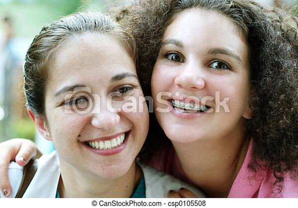 meninas, feliz - csp0105508