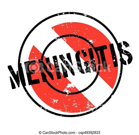Meningitis rubber stamp - csp49392833