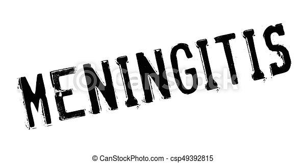 Meningitis rubber stamp - csp49392815