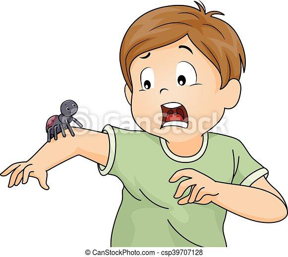 Resultado de imagem para desenho de menino assustado