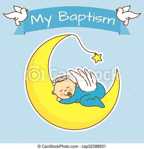 menino batismo menino anjo moon dormir bebê batismo