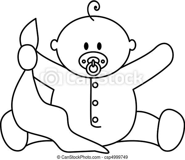 menino bebê, cobertor - csp4999749