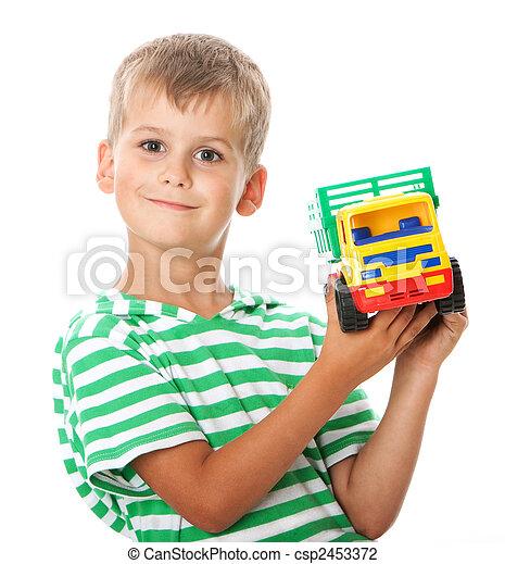menino, brinquedo - csp2453372